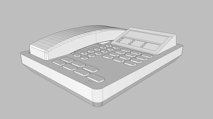 Phone: Office / Business Style royalty-free 3d model - Preview no. 12