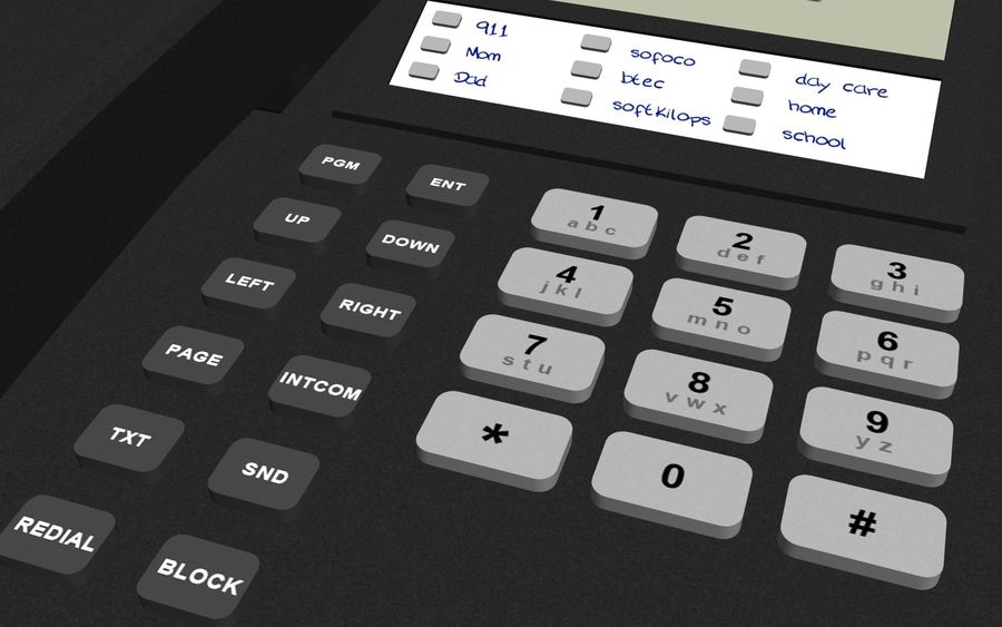 Phone: Office / Business Style royalty-free 3d model - Preview no. 6