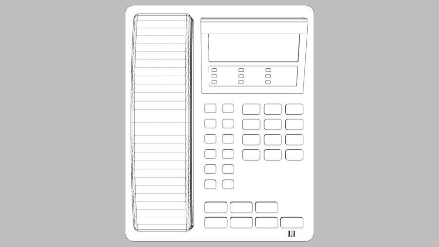 Phone: Office / Business Style royalty-free 3d model - Preview no. 9