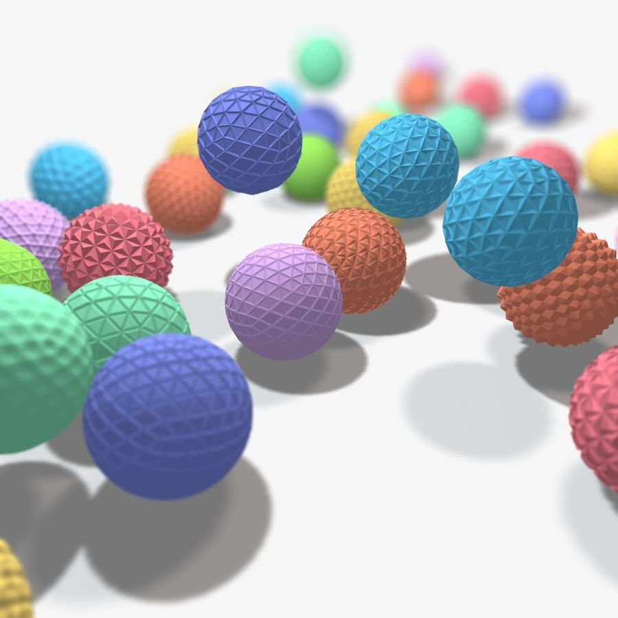 18 esferas geométricas royalty-free 3d model - Preview no. 3