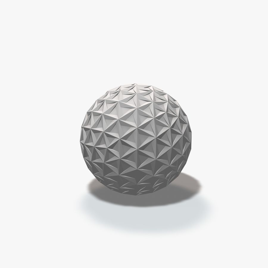 18 Geometric Spheres royalty-free 3d model - Preview no. 6