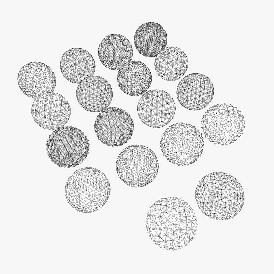 18 geometrische Kugeln royalty-free 3d model - Preview no. 4