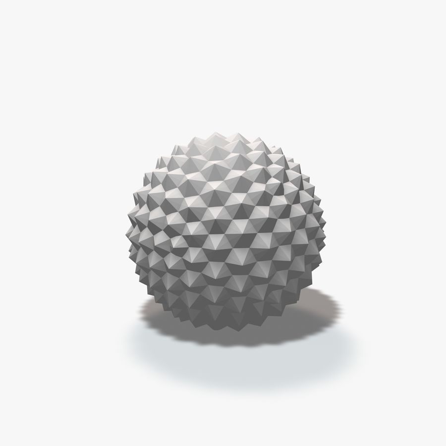 18 Geometric Spheres royalty-free 3d model - Preview no. 19