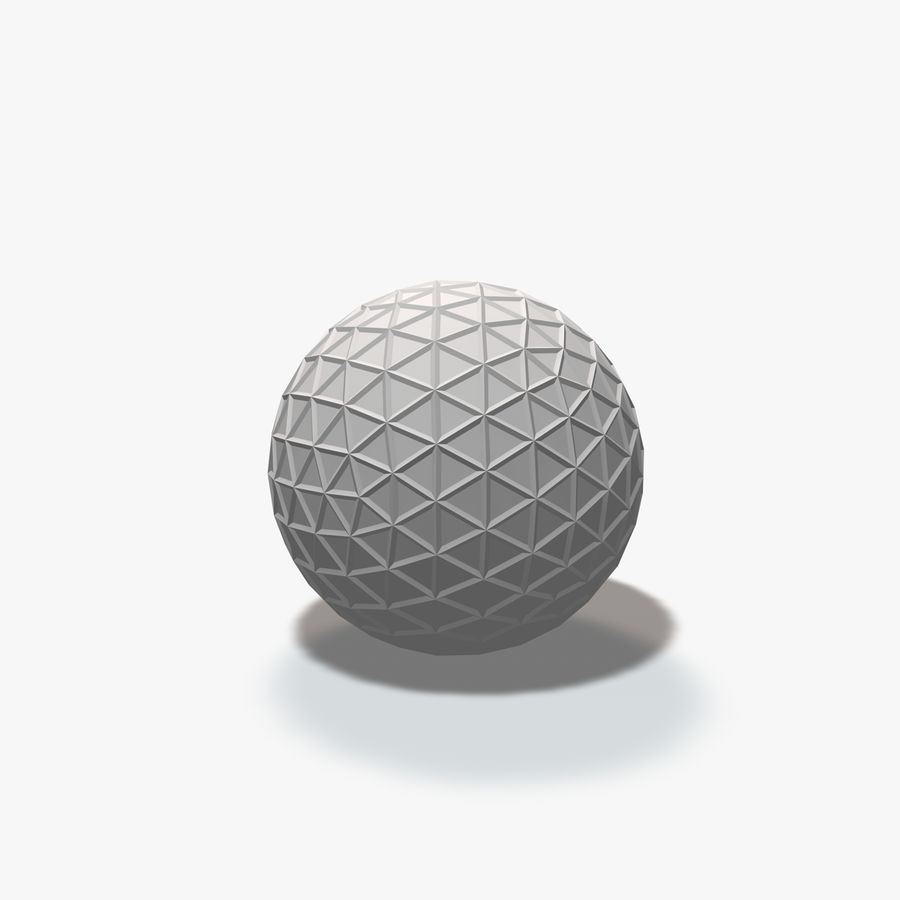 18 Geometric Spheres royalty-free 3d model - Preview no. 7