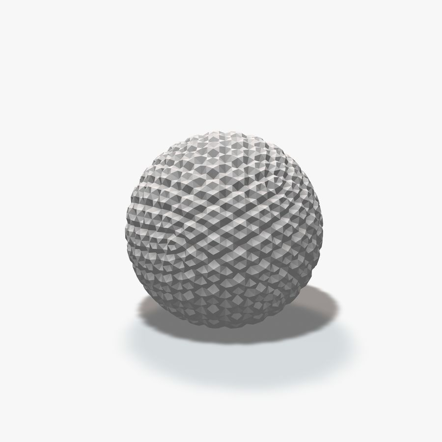 18 esferas geométricas royalty-free 3d model - Preview no. 12