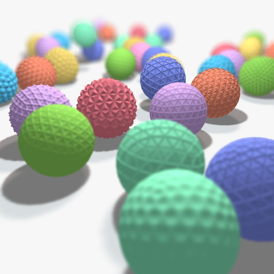 18 Geometric Spheres royalty-free 3d model - Preview no. 2
