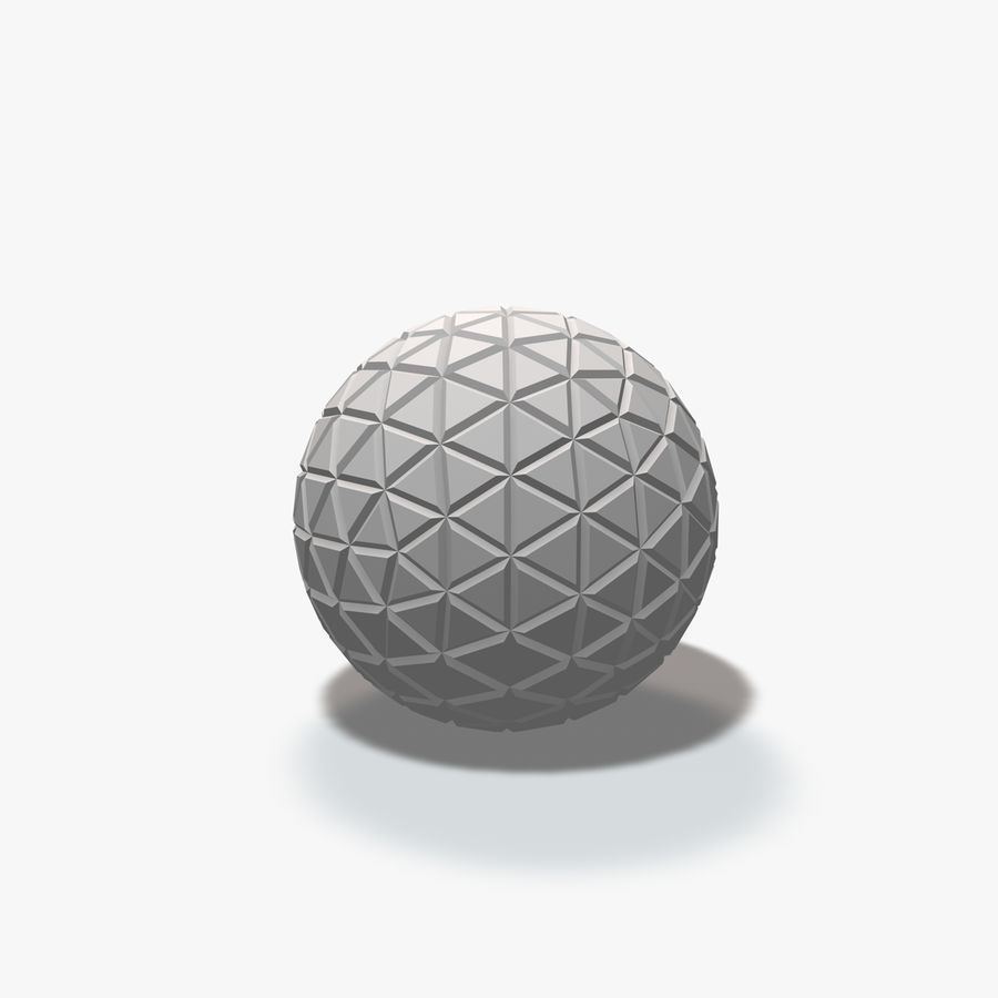 18 Geometric Spheres royalty-free 3d model - Preview no. 15