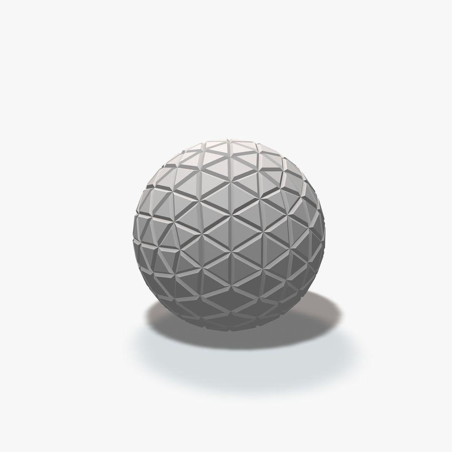 18 esferas geométricas royalty-free 3d model - Preview no. 15