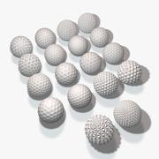 18の幾何学的な球 3d model