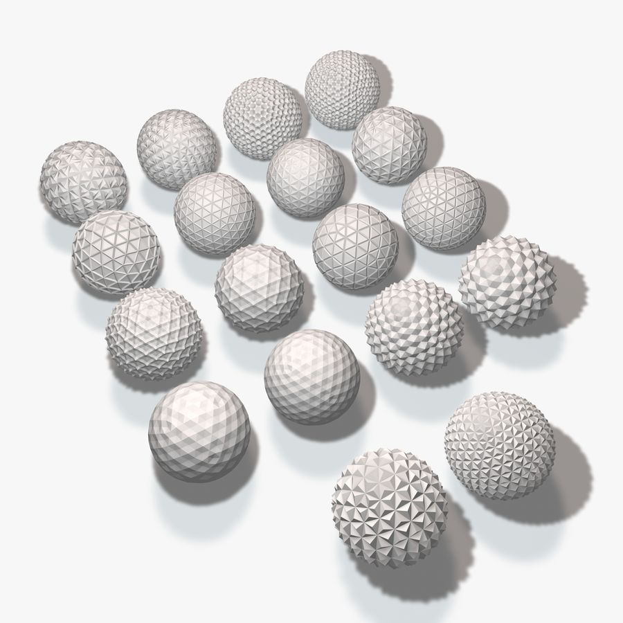 18 esferas geométricas royalty-free 3d model - Preview no. 1