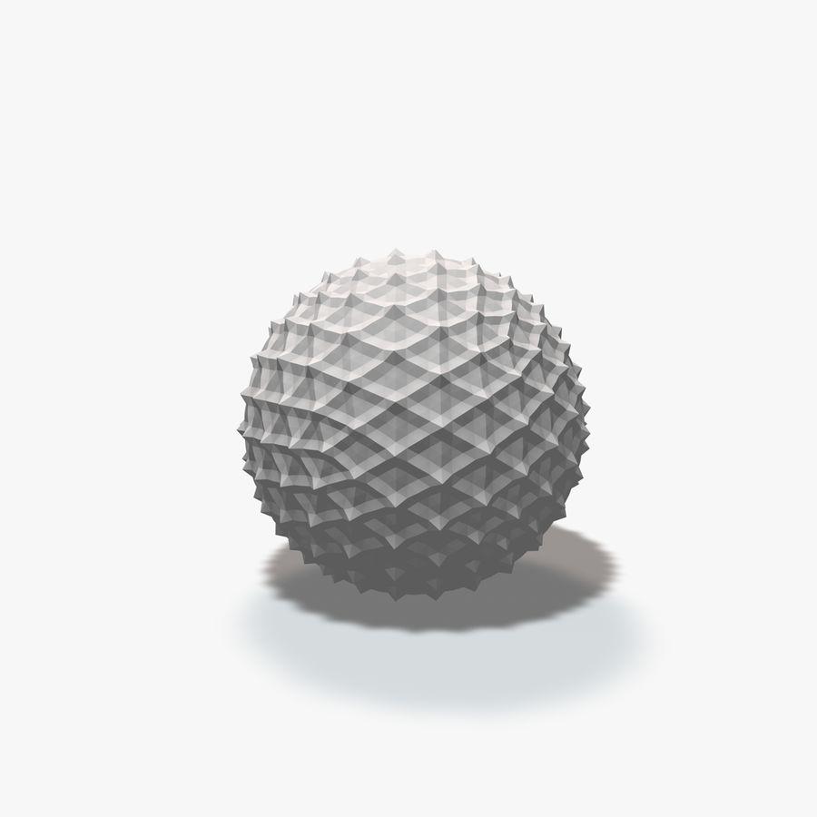 18 geometrische Kugeln royalty-free 3d model - Preview no. 14