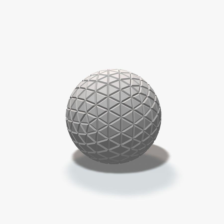 18 esferas geométricas royalty-free 3d model - Preview no. 16