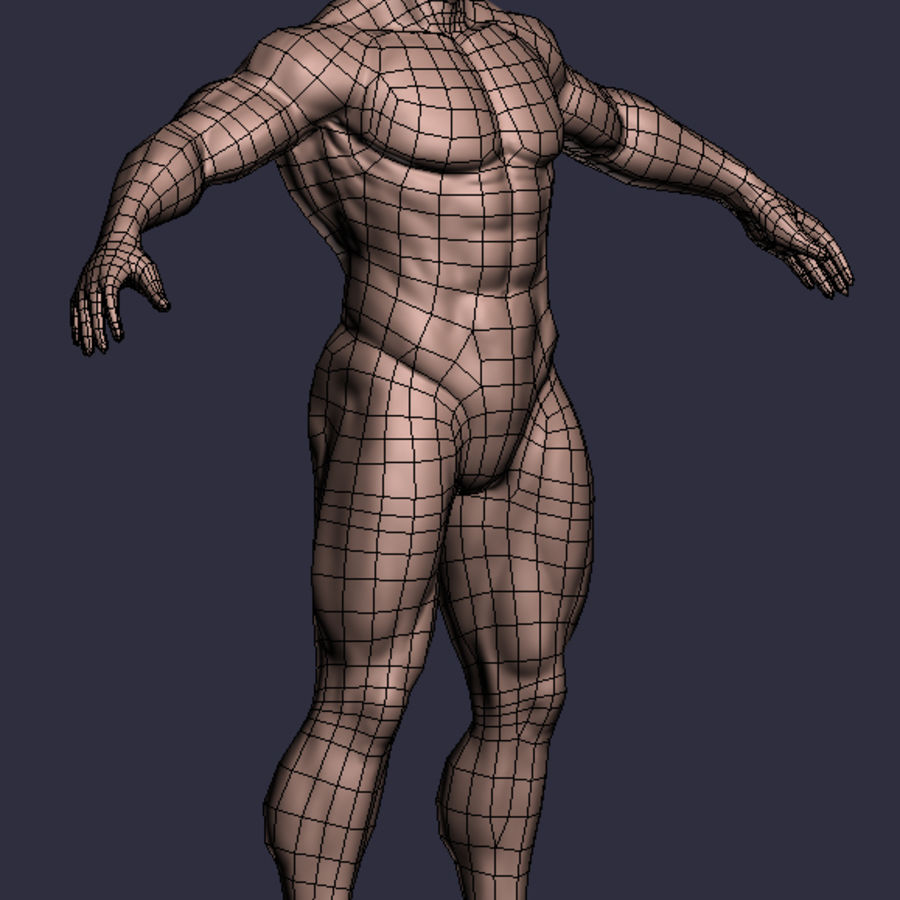 Male A-Posed Character royalty-free 3d model - Preview no. 6