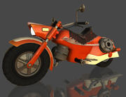 Motorbike classic style 3d model