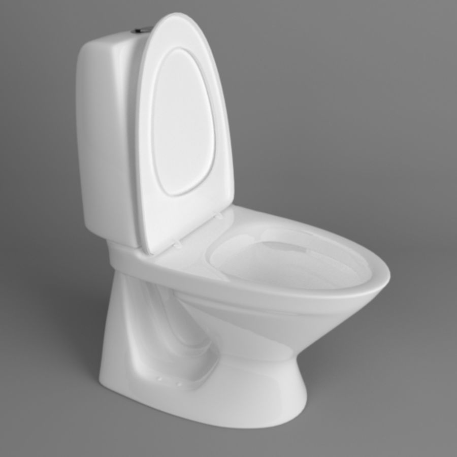 Toilet Architech royalty-free 3d model - Preview no. 5