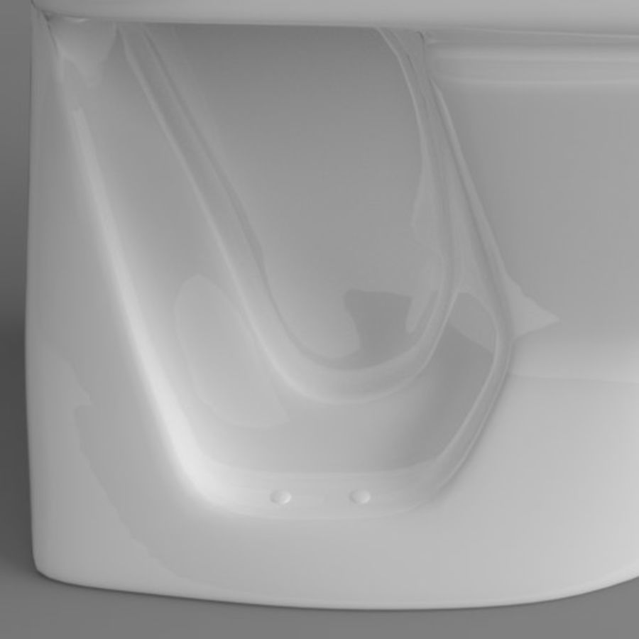 Toilet Architech royalty-free 3d model - Preview no. 6