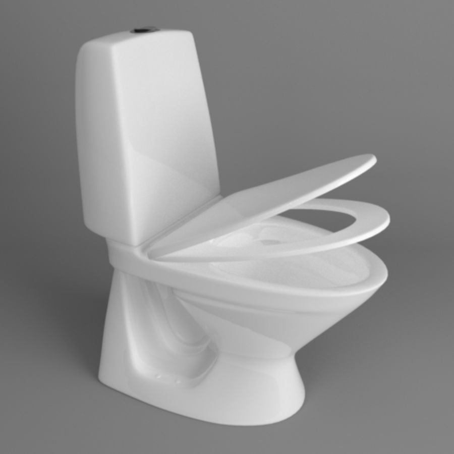 Toilet Architech royalty-free 3d model - Preview no. 3