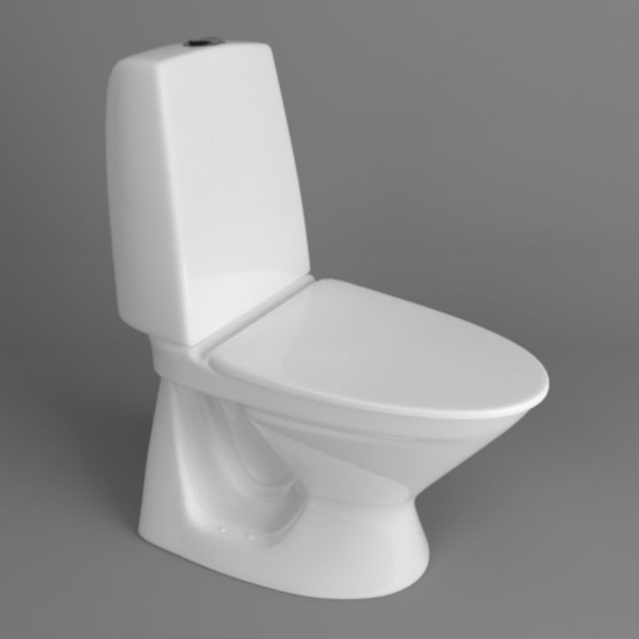 Toilet Architech royalty-free 3d model - Preview no. 4