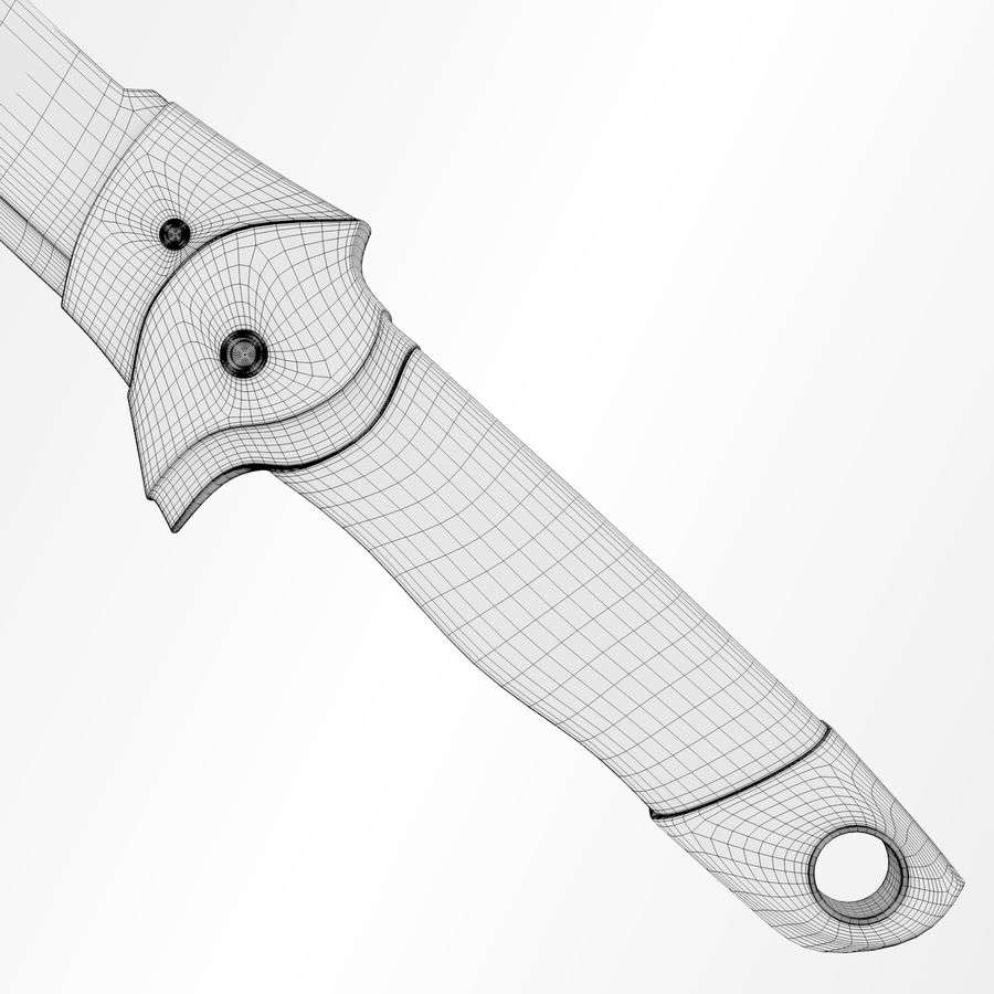 Scorpion Machete royalty-free 3d model - Preview no. 9