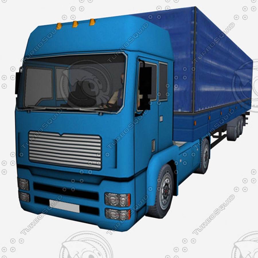 TruckMan01 royalty-free 3d model - Preview no. 1
