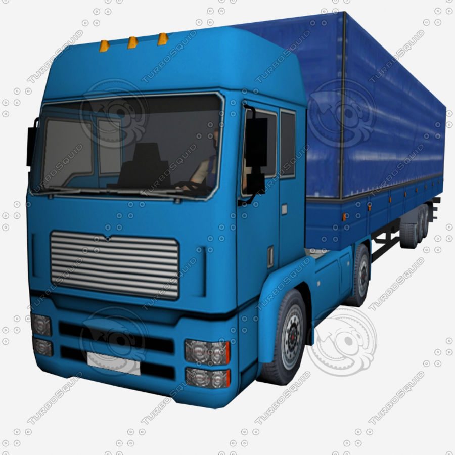 TruckMan01 royalty-free 3d model - Preview no. 3