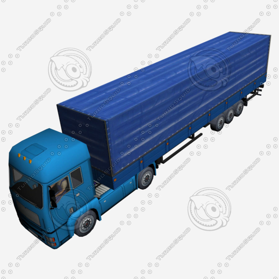 TruckMan01 royalty-free 3d model - Preview no. 5
