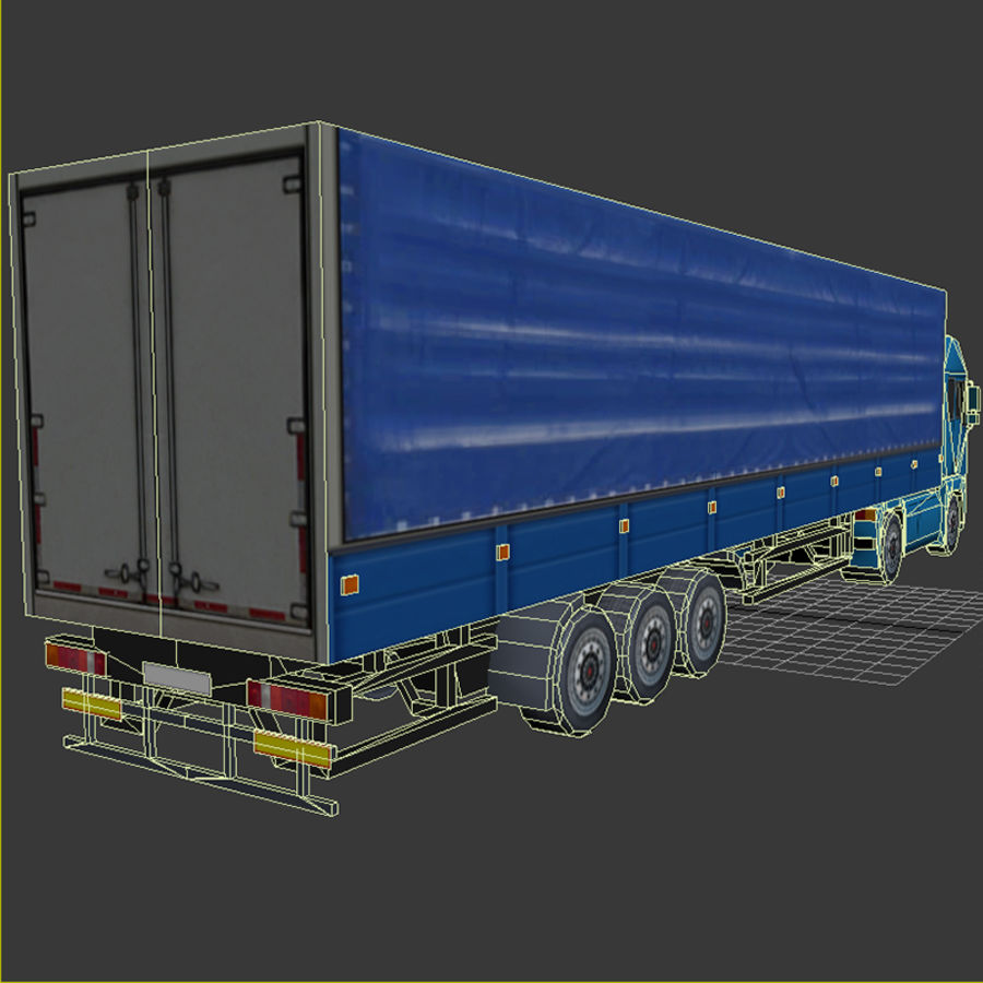 TruckMan01 royalty-free 3d model - Preview no. 7