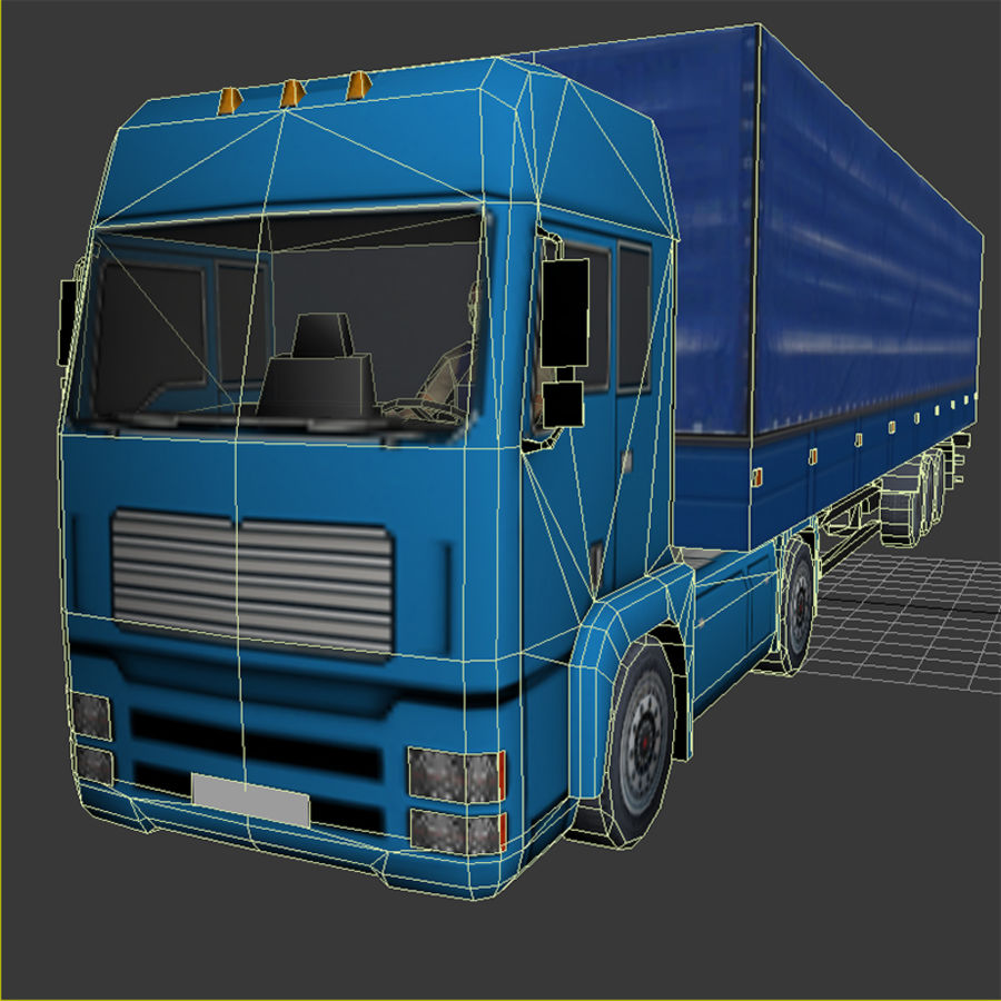 TruckMan01 royalty-free 3d model - Preview no. 6