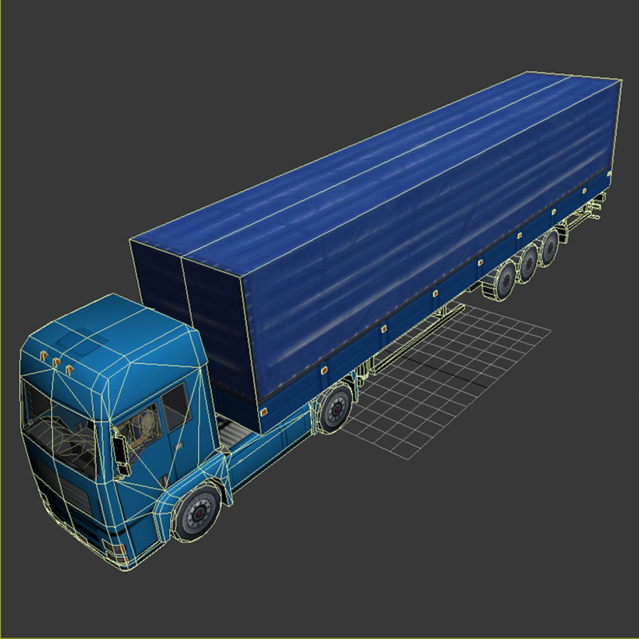 TruckMan01 royalty-free 3d model - Preview no. 8