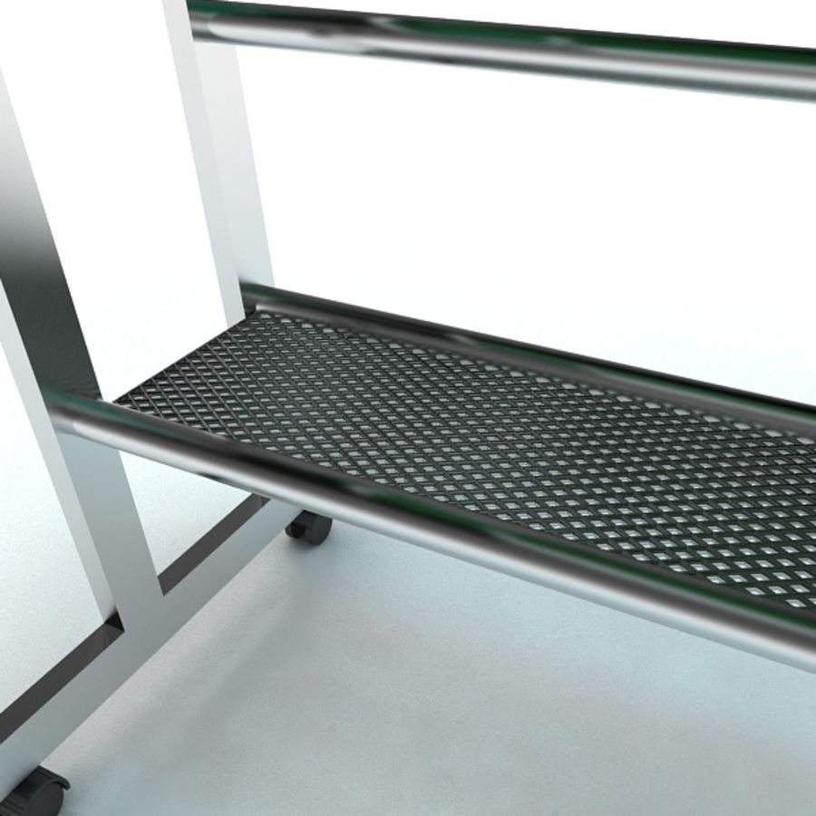 Steel Computer Table royalty-free 3d model - Preview no. 7