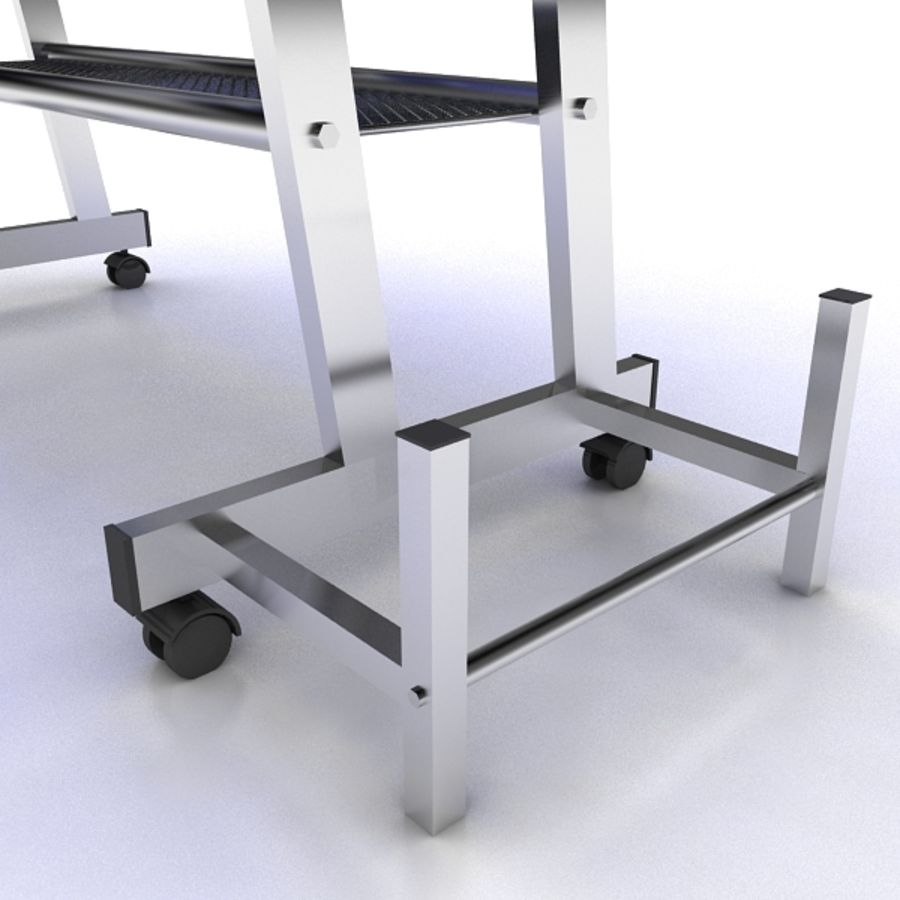 Steel Computer Table royalty-free 3d model - Preview no. 6