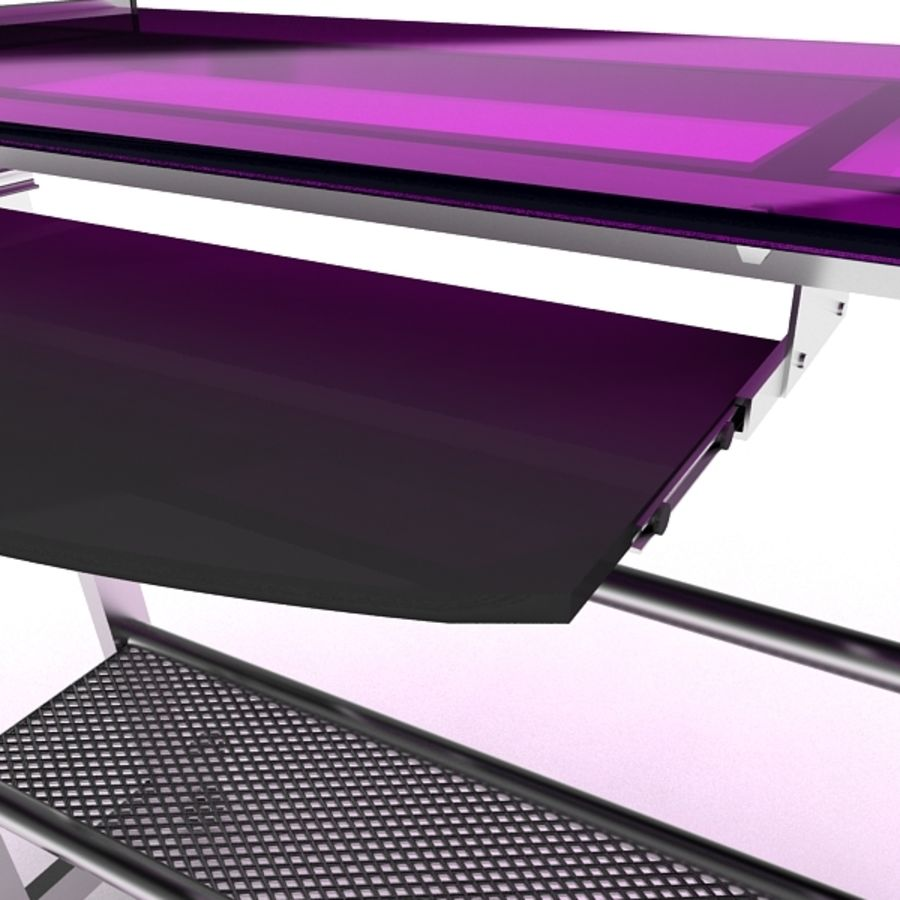 Steel Computer Table royalty-free 3d model - Preview no. 8