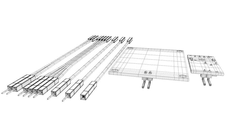 arduino rain  water sensor module with cables 3d model  20