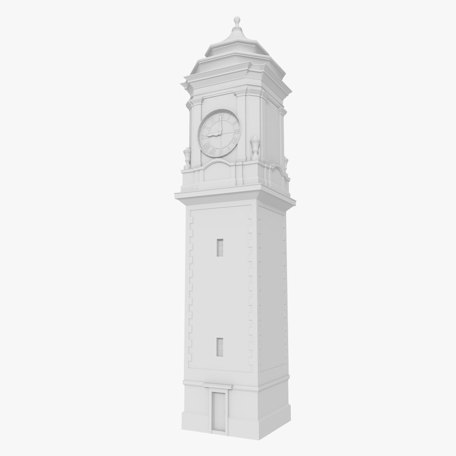 Clock tower one royalty-free 3d model - Preview no. 1