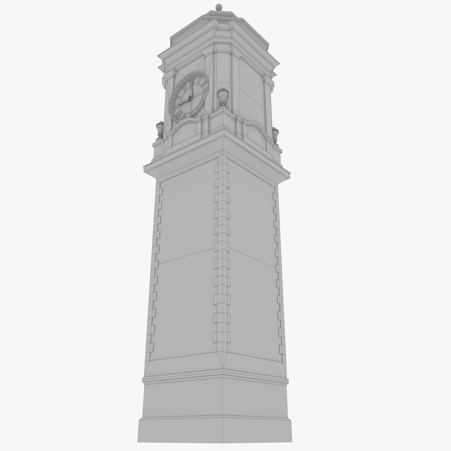 Clock tower one royalty-free 3d model - Preview no. 11