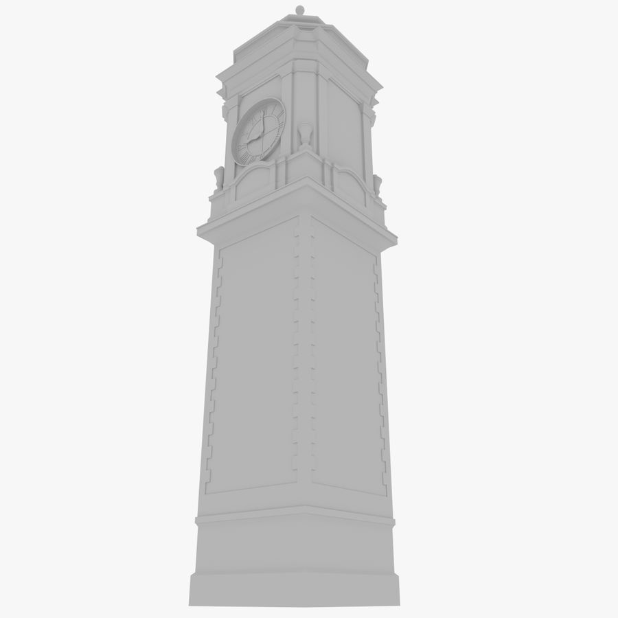 Clock tower one royalty-free 3d model - Preview no. 3