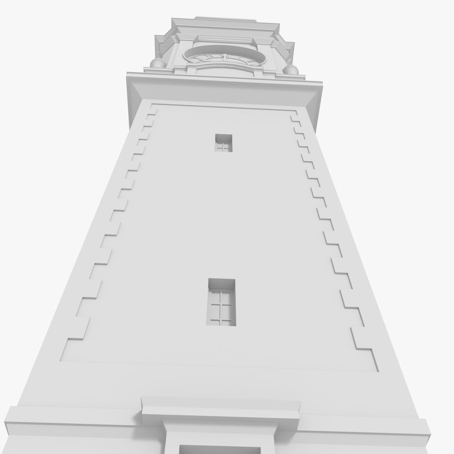 Clock tower one royalty-free 3d model - Preview no. 7