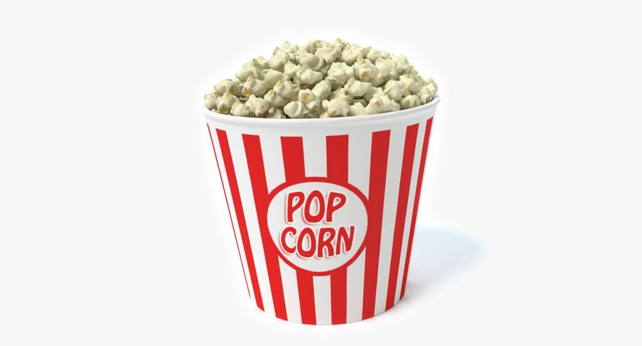 popcorn royalty-free 3d model - Preview no. 2