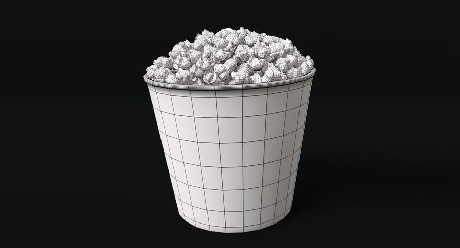 popcorn royalty-free 3d model - Preview no. 6