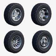 ATV Wheels Low Poly 3d model