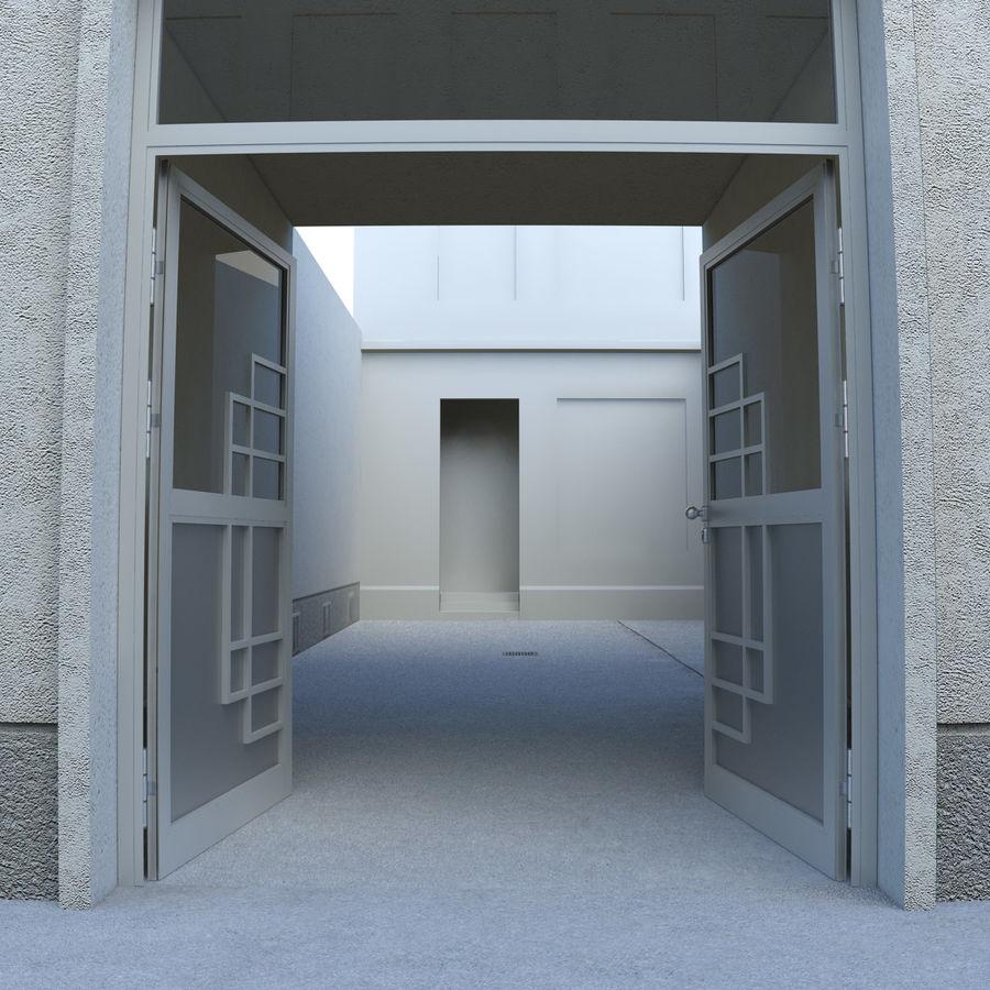 Door - Portal - Cityscape royalty-free 3d model - Preview no. 3