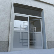 ドア - ポータル - 街並み 3d model
