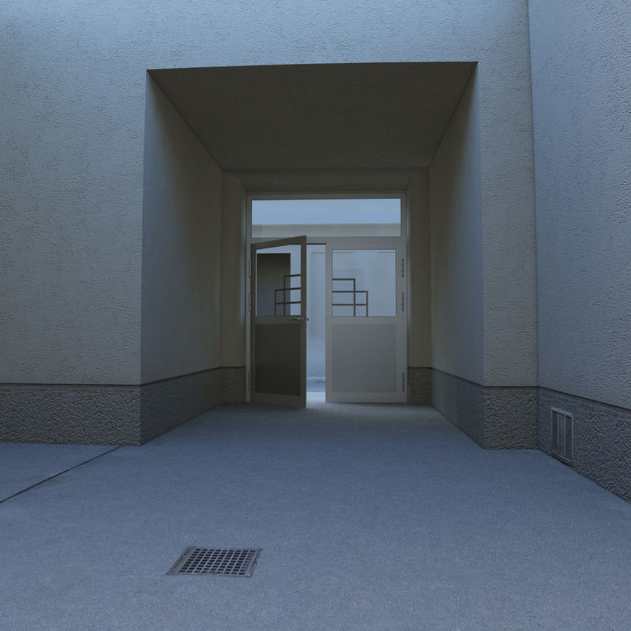 Door - Portal - Cityscape royalty-free 3d model - Preview no. 5