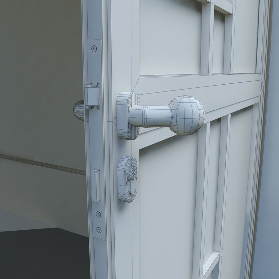 Door - Portal - Cityscape royalty-free 3d model - Preview no. 9
