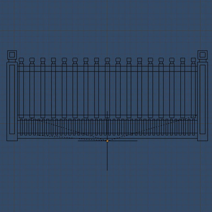 Fence royalty-free 3d model - Preview no. 3