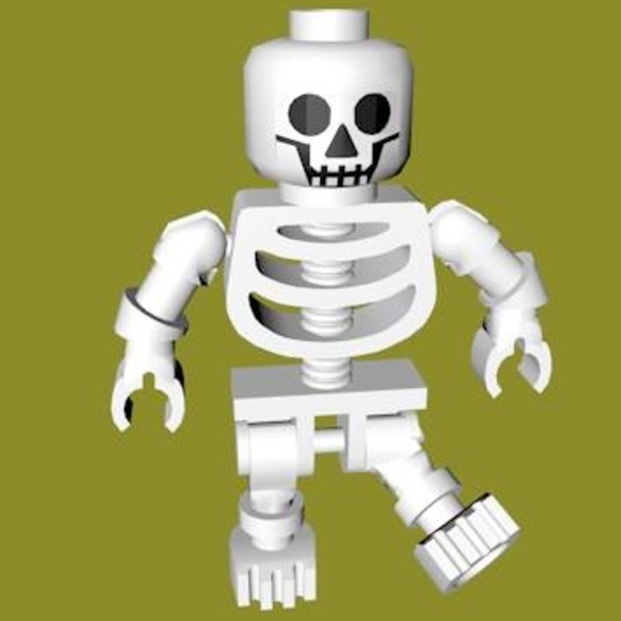 LEGO Skeleton (Rigged) royalty-free 3d model - Preview no. 3