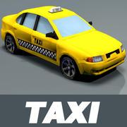 Taxi car textured 3d model