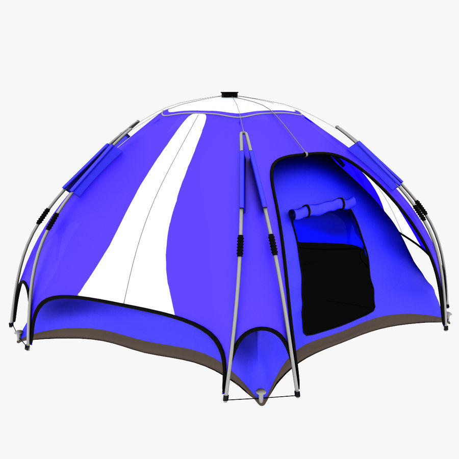 camping tent 4 royalty-free 3d model - Preview no. 1