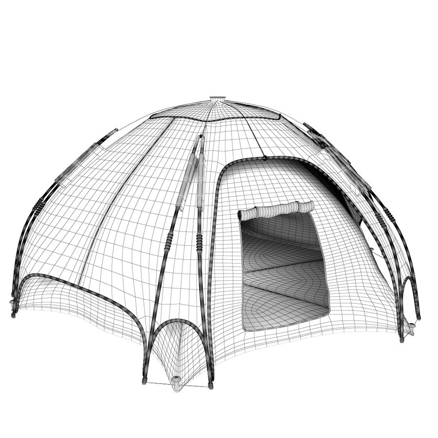 camping tent 4 royalty-free 3d model - Preview no. 8