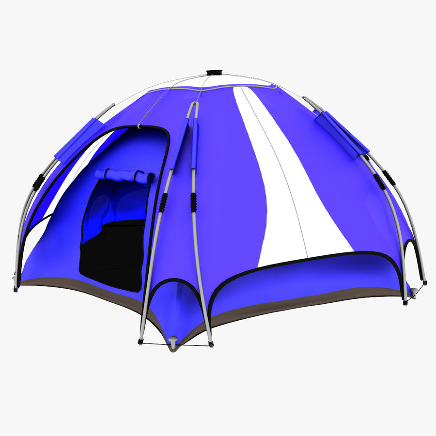 camping tent 4 royalty-free 3d model - Preview no. 3